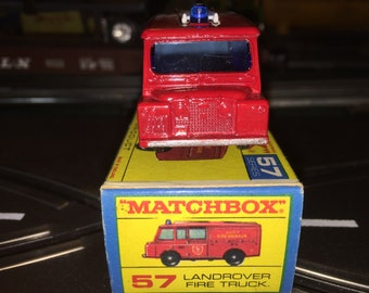 Matchbox Lesney Series No 57 Landrover Fire Truck Boxed