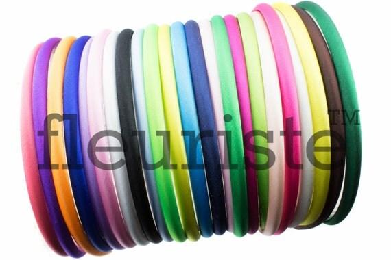 Satin Headbands Plastic Headbands 7mm Headbands Diy