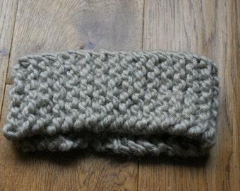 Chunky, knitted, head band, ear warmer