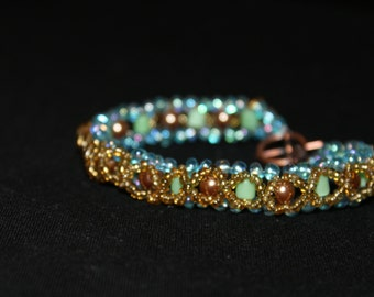 """Fairy dust right angle weave bracelet 8inches"""""""