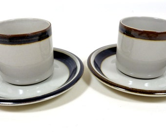 Set of two Vintage Arabia Finland Coffee Cups w/ Saucers