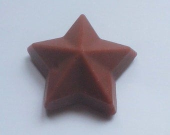 Small Star Soy Wax Melts: Chocolate