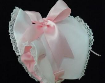 Fancy Bonnet, Wedding Bonnet, Flower Girl hat, Christening Bonnet, Baby Bonnet, Girls Bonnet,Girls Hat, Childrens Hat, Handmade, Flower Girl