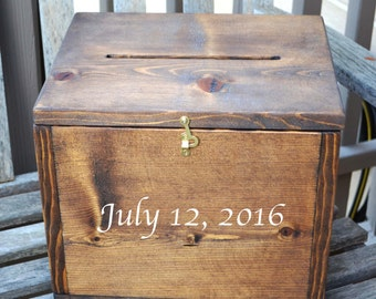 Wedding Card Box Rustic Wedding Gift Card Box Wedding Box