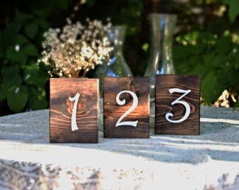 Set of 20 Rustic Wedding Table Numbers, Block Table Numbers, Rustic Wedding Decor,Spring Wedding, Summer Wedding, Wedding Tables