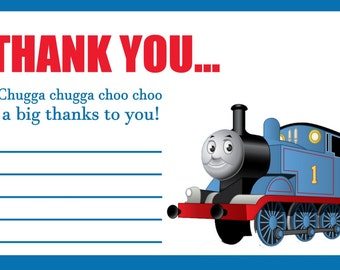 THOMAS THE TRAIN thank you cards/Instand download/Printable/ thank you cards