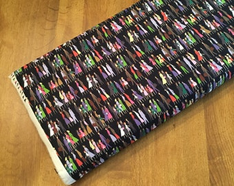 SALE ~ 1/2 YD or 1 YARD Fabric ~ Saturday Morning Voodoo (Black) by BasicGrey for Moda Fabrics