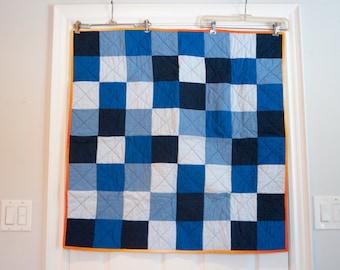Blue Modern Baby Quilt