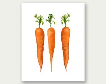 Carrots Printable, Kitchen Art, Carrots Wall Art, Culinary Print, Kitchen Printable, Kitchen Print, Vegetables Printable, Veggies Print