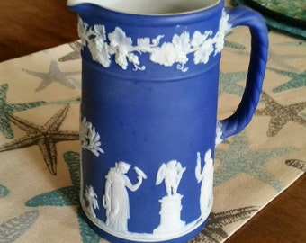 Wedgewood Pitcher Cobalt Jasperware