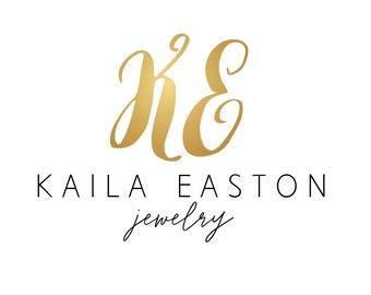 Premade logo gold design, intitials logo gold, jewelry logo, premade design business logo branding, gold logo, boutique logo