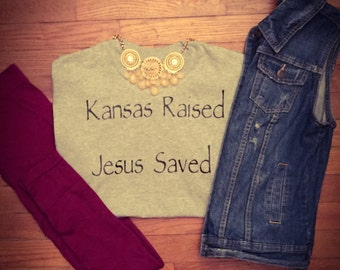 Raised & Saved tee
