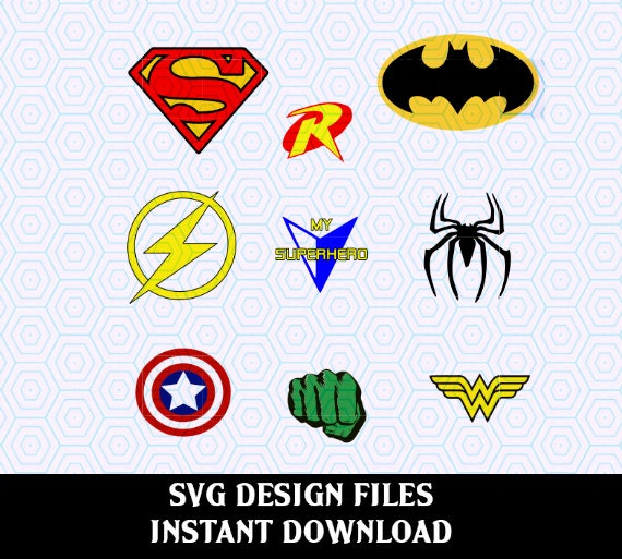 Super Hero Svg Print Cut Vector Svg Files T Shirt