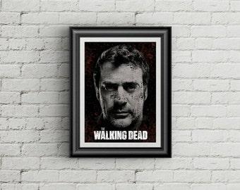 Walking Dead Negan Typography Poster