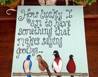 Friendly Bird Canvas
