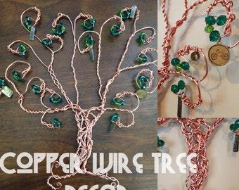 Copper Wire Tree Sculpture