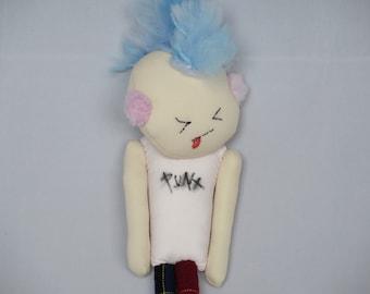 """12"""" (30cm) Punk Rock Bobby Cloth Doll"""