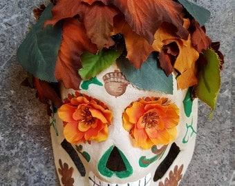 Autumn Sugar Skull Mask