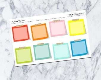 MultiColour Post it Notes / Planner Stickers