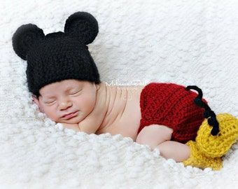 Made to Order Baby Mickey Mouse inspired Hat