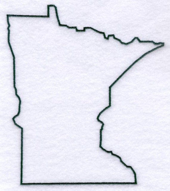 Minnesota Stencil Made From 4 Ply Mat Board By