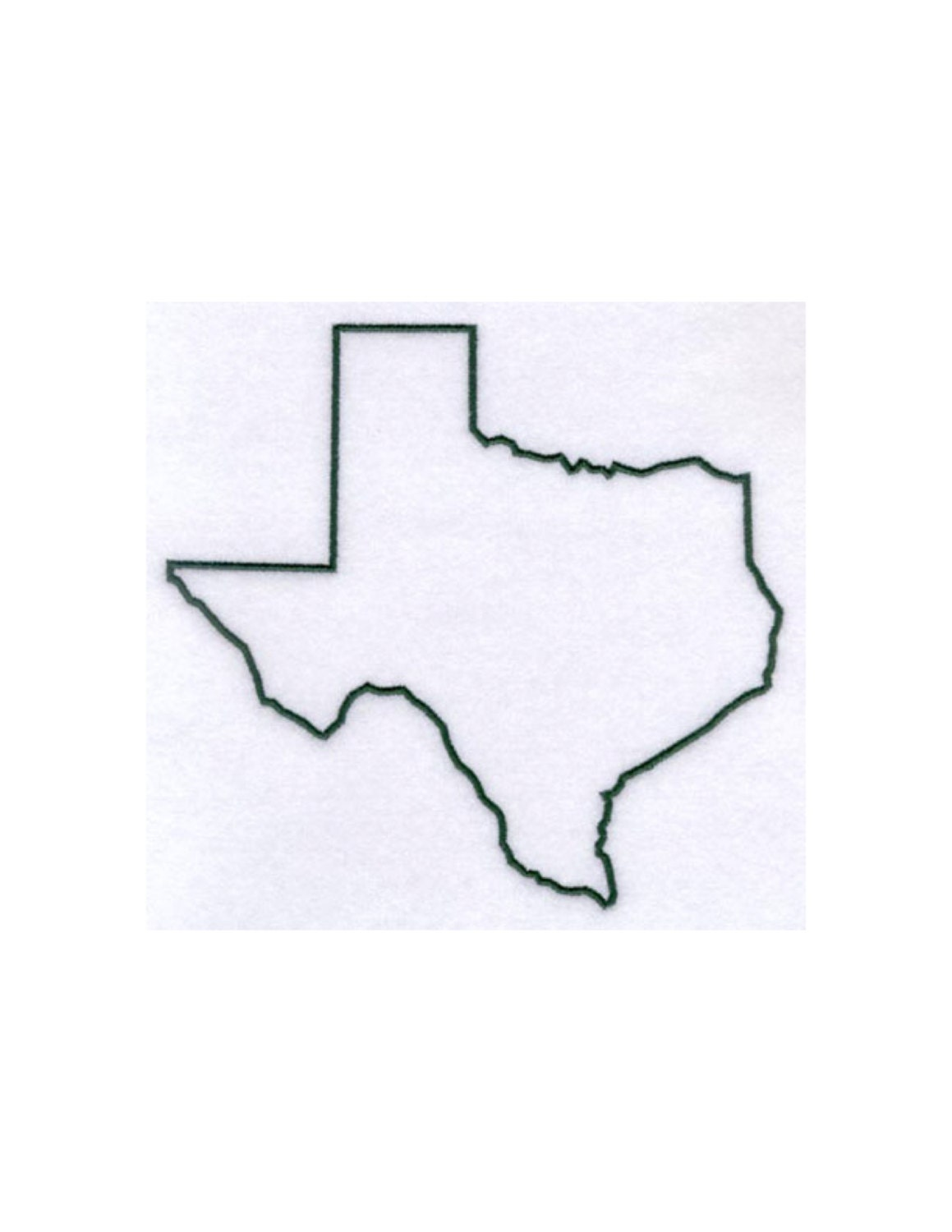 Texas Stencil Made From 4 Ply Mat Board By Woodburnsnewengland