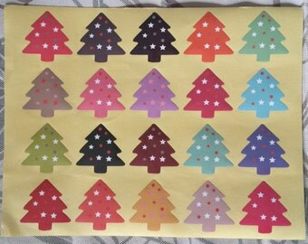 Lot of 20 stickers / stickers Christmas full of colours