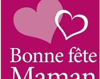 "Lot of 20 stickers / sticker ""Bonne Fête maman"""