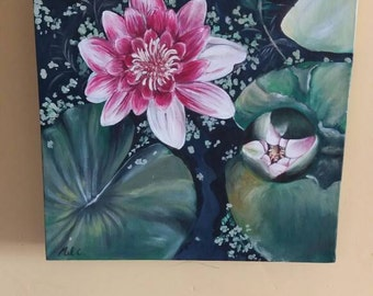 Lilly pond painting.