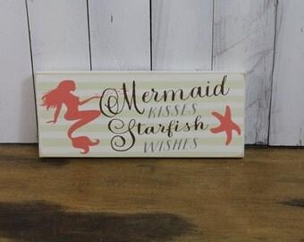 Mermaid Kisses/Starfish Wishes/Beach Decor/Beach House Decor