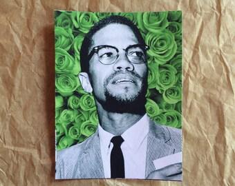 Malcolm X Flower Sticker