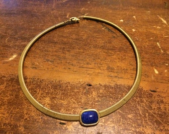 Egyptian blue gas pipe coil choker