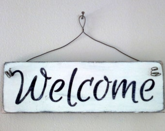 """Wooden Sign """"Welcome"""""""