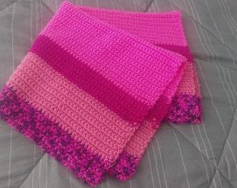 Pink Crochet stroller blankets