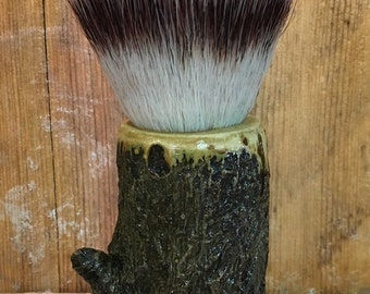Husk & Timber Mulberry 3-Band Synthetic Shaving Brush