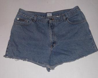 "HALF OFF! Calvin Klein Vintage High Waisted Denim Blue Jean Cut-Off Shorts 35"""