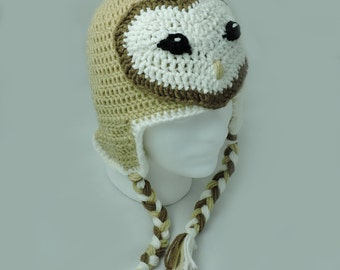 Crochet Barn Owl Hat