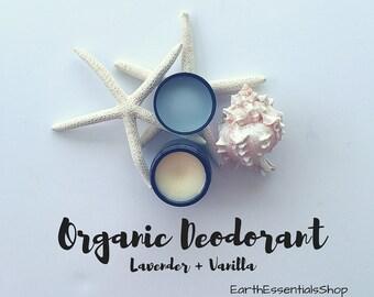 Organic Lavender + Vanilla Deodorant