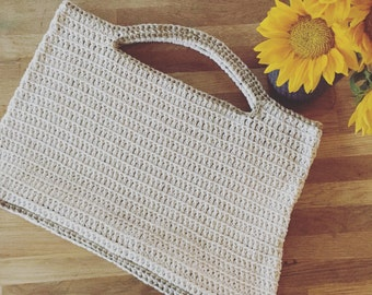 Crochet Tote, Crochet Market Bag, Crochet Beach Bag
