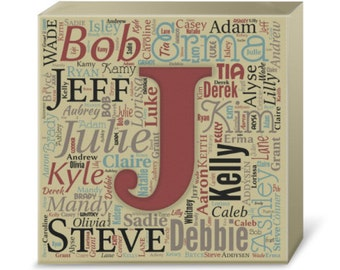 Personalized Family Word Art Monogram Print (Canvas or Metal)