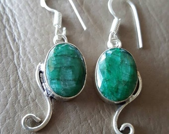 Emerald Gemstone Earrings!