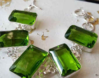 Green Quartz Bracelet - 8.25 inches!
