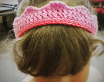 Crown Style Crochet Headband