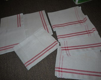 Rustic - Kitchen Towels - Napkins - 8 pieces - Sweden - Scandinavian - Rural - Shabby