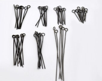 Pack of Approx 700 - Assorted Size Eye Pins, Gunmetal (1699)