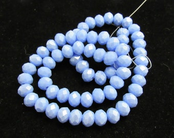 1 Str AB Electroplate Faceted Rondelle Glass Beads 8x6mm (B71i)