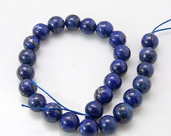 1 Strand Natural Lapis Lazuli 8mm Round Beads (B192f)