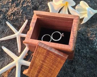 Hawaiian Koa Engagement Ring Box