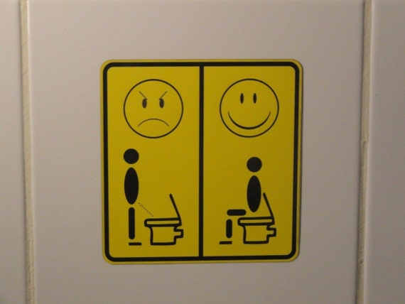 plaquette wc pipi assis sticker autocollant room