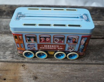 Hershey's Vehicle Series Canister #2 Trolley Collectible Tin Container